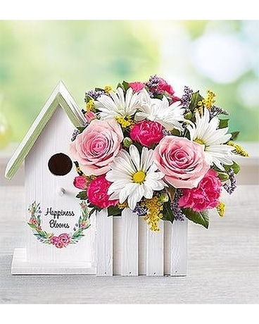 Birdhouse Flower Arrangement