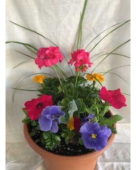 Blooming Patio Planter Flower Arrangement