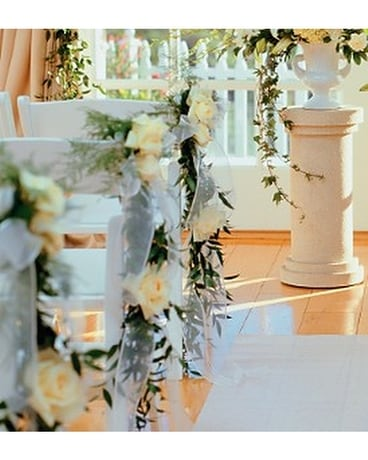Home Ceremony Chair Cluster Wedding Arrangement