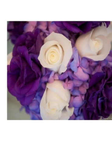 White, Purple & Lavender Bouquet Bouquet