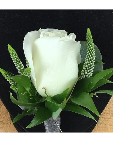 Regal in White Flower Arrangement