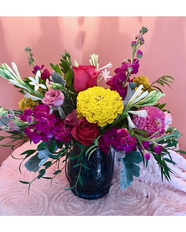 Vintage Summer Flower Arrangement