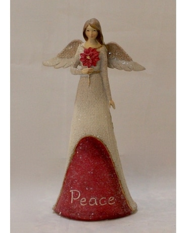 PEACE Angel holding flower Flower Arrangement