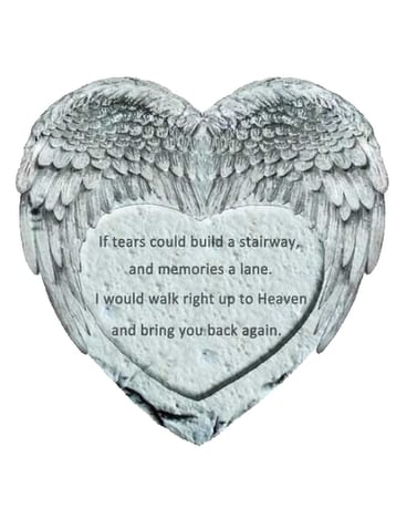 Heart/Angel Wings Stepping Stone Gifts