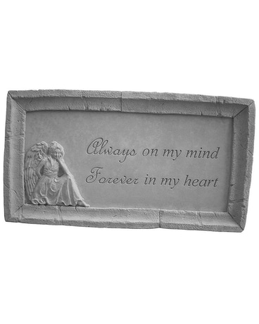 You will Always be.....garden stone with Angel Custom product