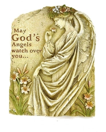 May God's Angels ....garden stone Custom product