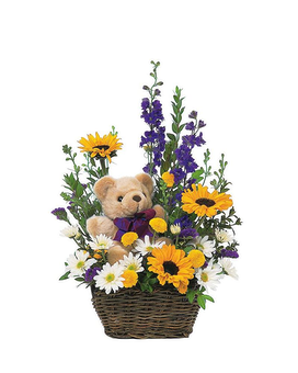 Flowers with Plush Bear Custom product