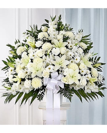 Conroys flowers local el cajon ca florist san diego ca florist sympathies standing basket white 9999 14999 mightylinksfo