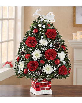 Night Before Christmas Flower Tree $49.99-99.99 Flower Arrangement