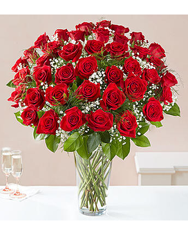 Ultimate Elegance Long Stem Red Roses Flower Arrangement