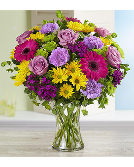Brilliant Blossom Medley $49.99-69.99 Flower Arrangement