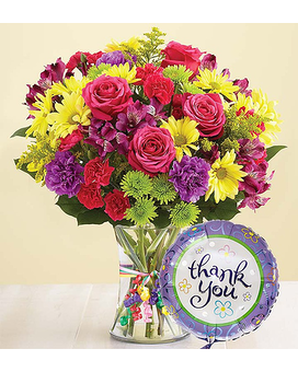 It's Your Day Thank You $39.99-59.99 Flower Arrangement