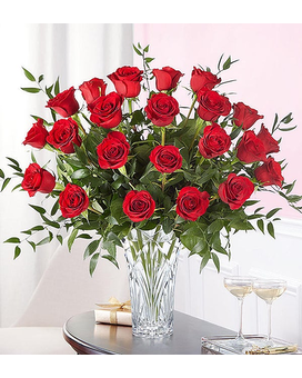 Waterford Long Stem Red Roses $129.99-189.99 Flower Arrangement