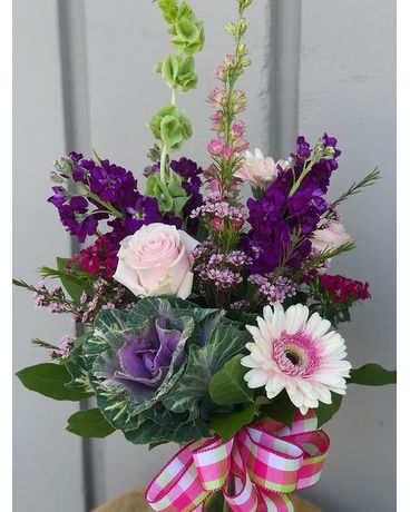 Tall Vase Arrangement Flower Arrangement