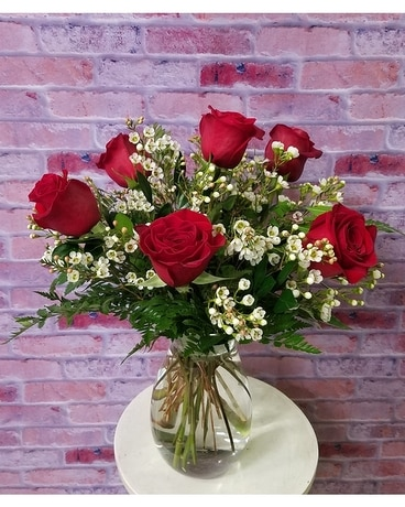 Roses vased 6 Flower Arrangement