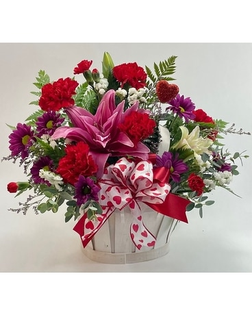 Love in a Basket Flower Arrangement