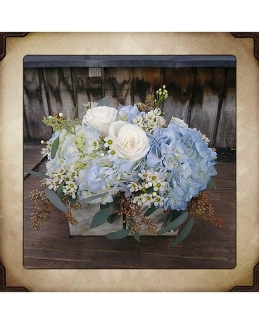 Blue Elegance Flower Arrangement