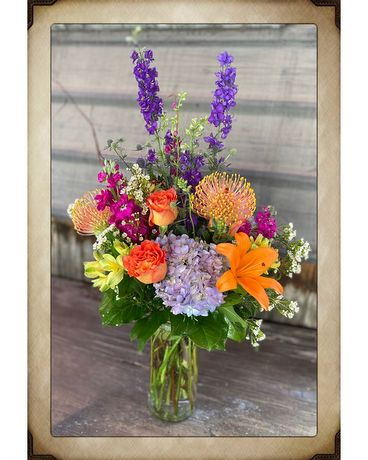 Colorful Love Flower Arrangement