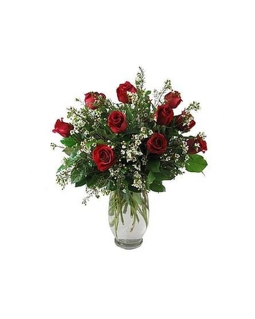 Red Dozen Flower Arrangement