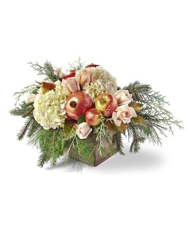 Winter Greetings Flower Arrangement