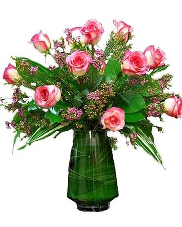Pink Dozen Flower Arrangement