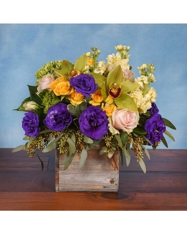 Rustic Countryside Flower Arrangement