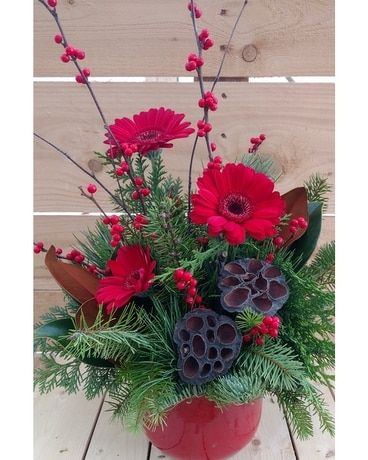 Happy Holidays Flower Arrangement