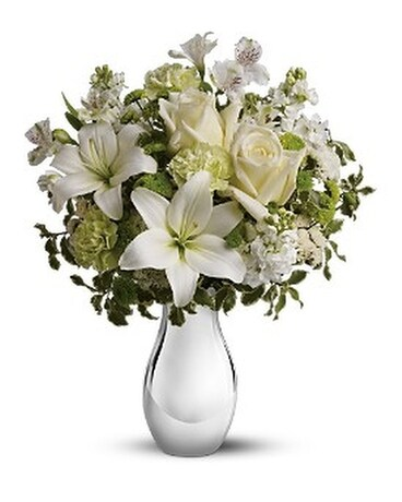 Silver Reflections Flower Arrangement