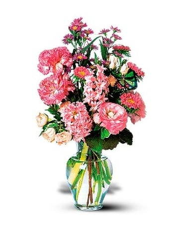 Pink Spring Bouquet Flower Arrangement