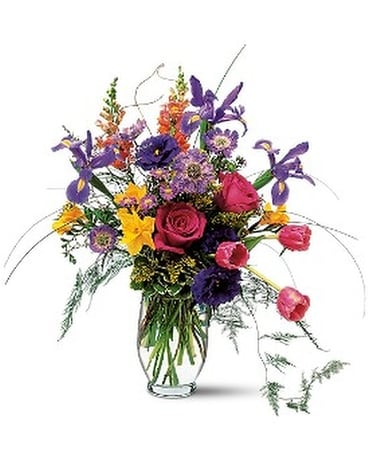 Spirited Spring Flower Arrangement