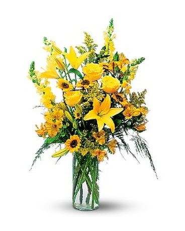 Burst of Yellow Flower Arrangement