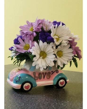 Hippy Dippy Bug Flower Arrangement