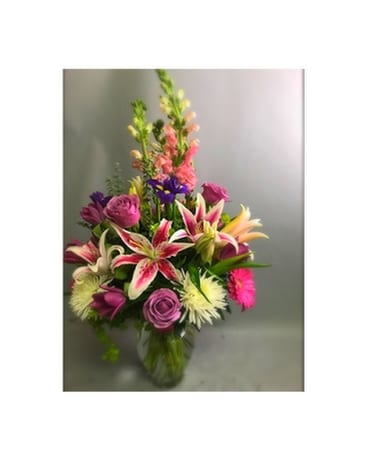 PINKS, PURPLES & WHITE PLEASE Flower Arrangement