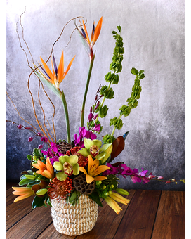 Exotic Love Flower Arrangement