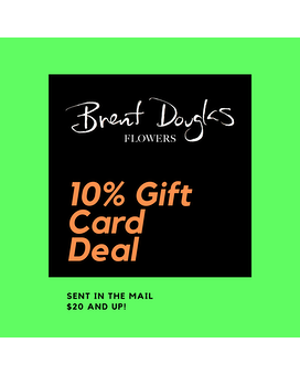 10% Gift Certificate Deal Flower Arrangement
