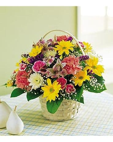Small Mixed Basket Flower Arrangement