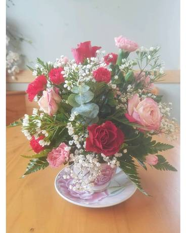 Tea Cup Flower Arrangement