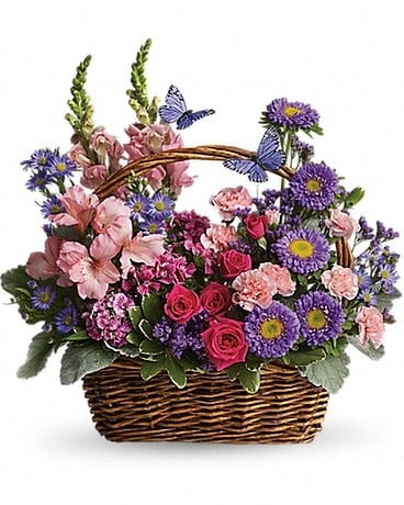 Country Basket Blooms Flower Arrangement