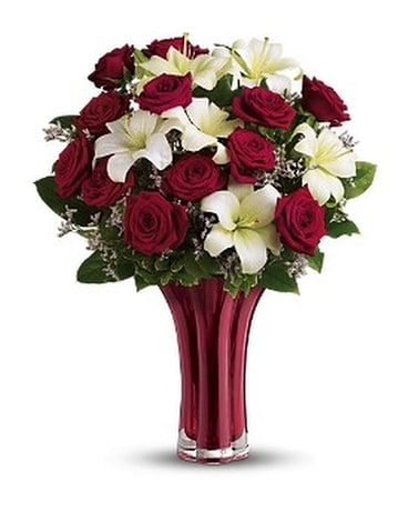 Teleflora's Ruby Nights Dozen Flower Arrangement
