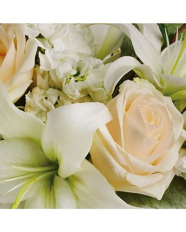 Simply White Designer's Choice Flower Arrangement