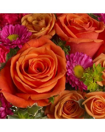 Warm Colors Designer's Choice Flower Arrangement
