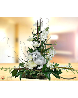 Owl You Need Is Love Flower Arrangement