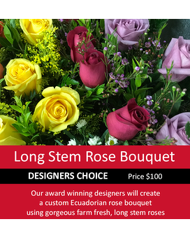 Designer's Choice Long Stem Rose Bouquet 100 Flower Arrangement