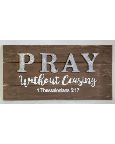 Pray Without Ceasing Plaque Gifts