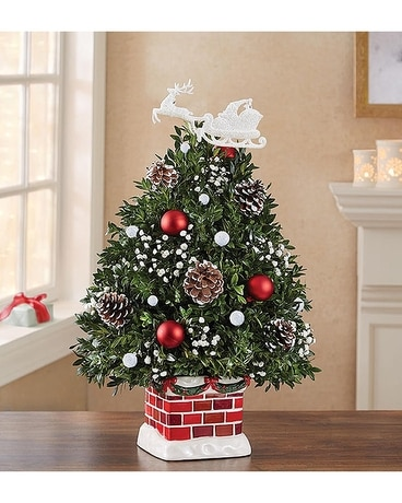 The Night Before Christmas Holiday Flower Tree Flower Arrangement