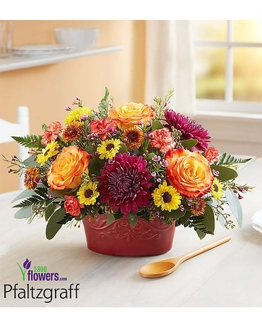 Fall Gathering by Pfaltzgraff Flower Arrangement