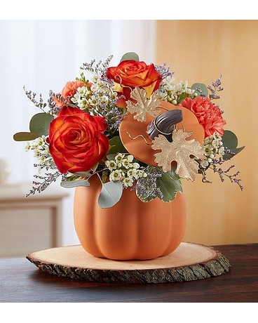 Pumpkin Petals Flower Arrangement