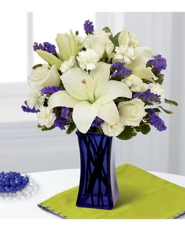 Beyond Blue Flower Arrangement