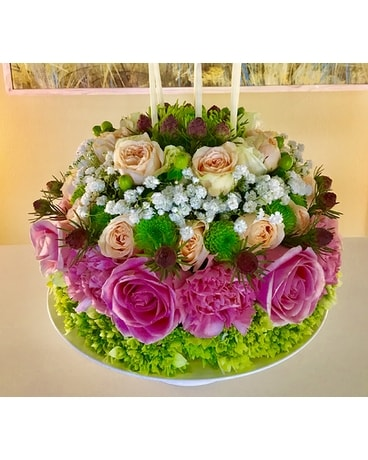 Summer Birthday Cake Flower Arrangement
