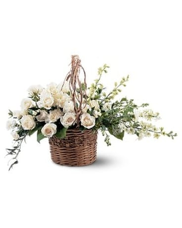 Basket of Light Flower Arrangement